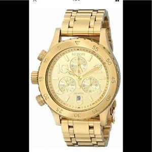 Nixon 38-20 chronograph gold tone watch